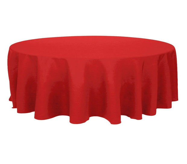 Red Round Tablecloth (260cm) close up