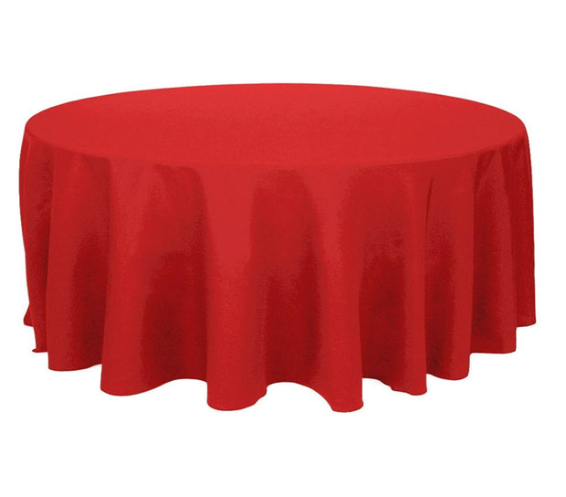 Red Round Tablecloth (300cm) front