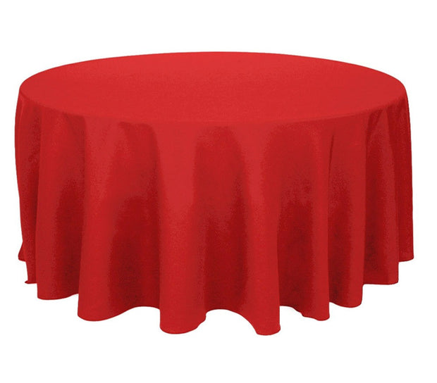 Red Round Tablecloth (300cm) close up