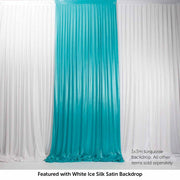 Turquoise Ice Silk Satin Backdrop Convertible Panels 1mx3m