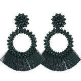 Handmade Beaded Tassel Earrings