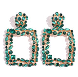 Duchess Square Crystal Statement Earrings