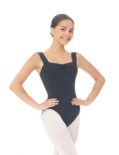 Mondor Matrix Wide Strap Leotard in Black