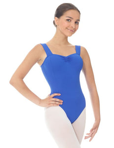 Mondor Matrix Wide Strap Leotard in Royal