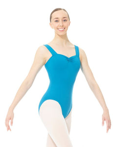 Mondor Matrix Wide Strap Leotard in Paradise