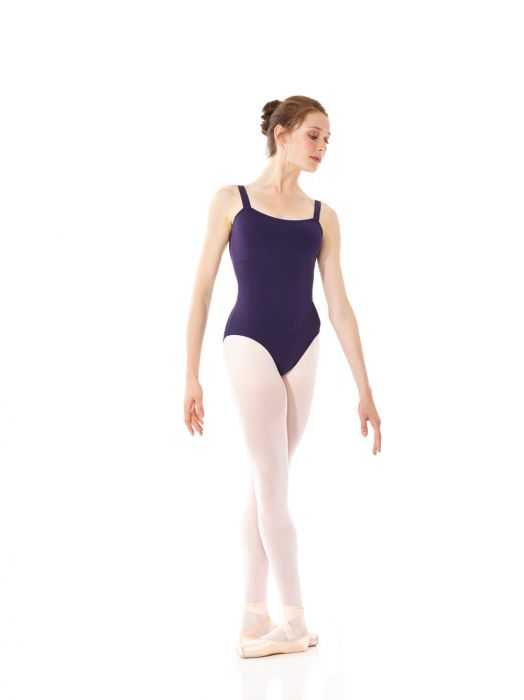 Mondor Empire Waist Matrix Leotard in Aubergin
