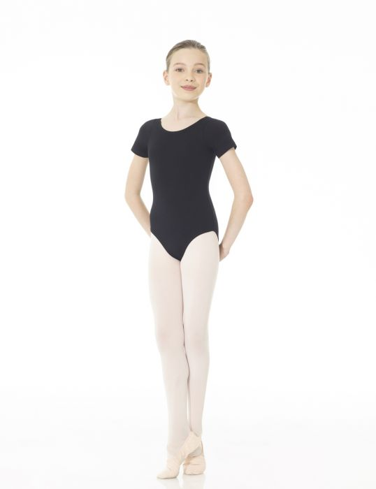 Mondor Studio 55 Short Sleeve Leotard in Black