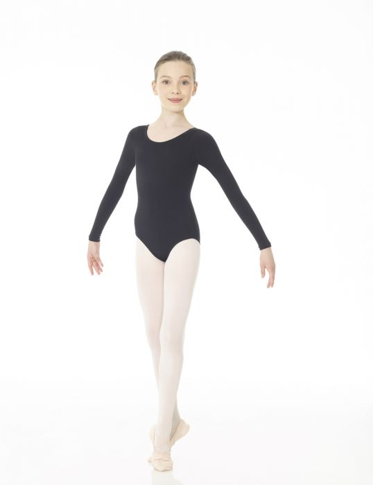 Mondor Studio 55 Long Sleeve Leotard in Black