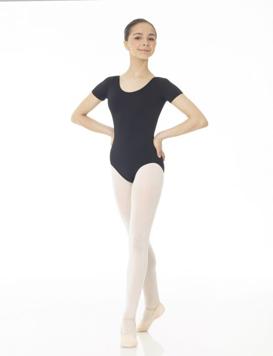 Mondor Essentials Short Sleeve Leotard in Black