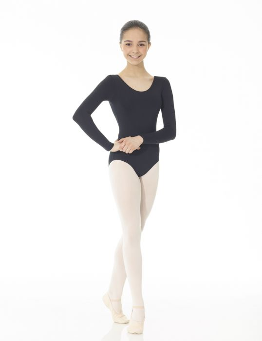 Mondor Essentials Long Sleeve Leotard in Black