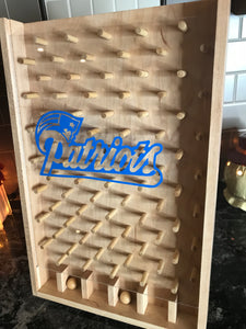 New England Patriots NFL Plinko Board / Drinko tailgating Game