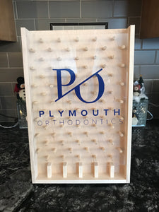 Customized Tabletop Wooden Plinko board with your company's logo