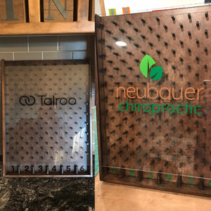 24 x 18 Custom Logo Wooden Plinko board with your company's logo