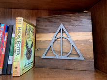 Load image into Gallery viewer, Harry Potter Deathly Hallows rustic wall art