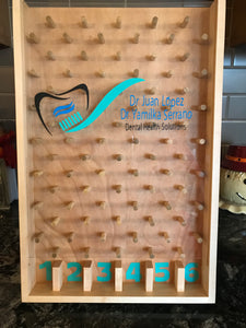 Customized dentist logo plinko board for trade shows