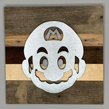 Load image into Gallery viewer, Rustic wall hanging inspired by Nintendo's Super Mario Bros - 8 designs