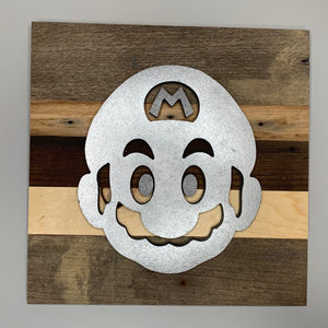Rustic wall hanging inspired by Nintendo's Super Mario Bros - 8 designs