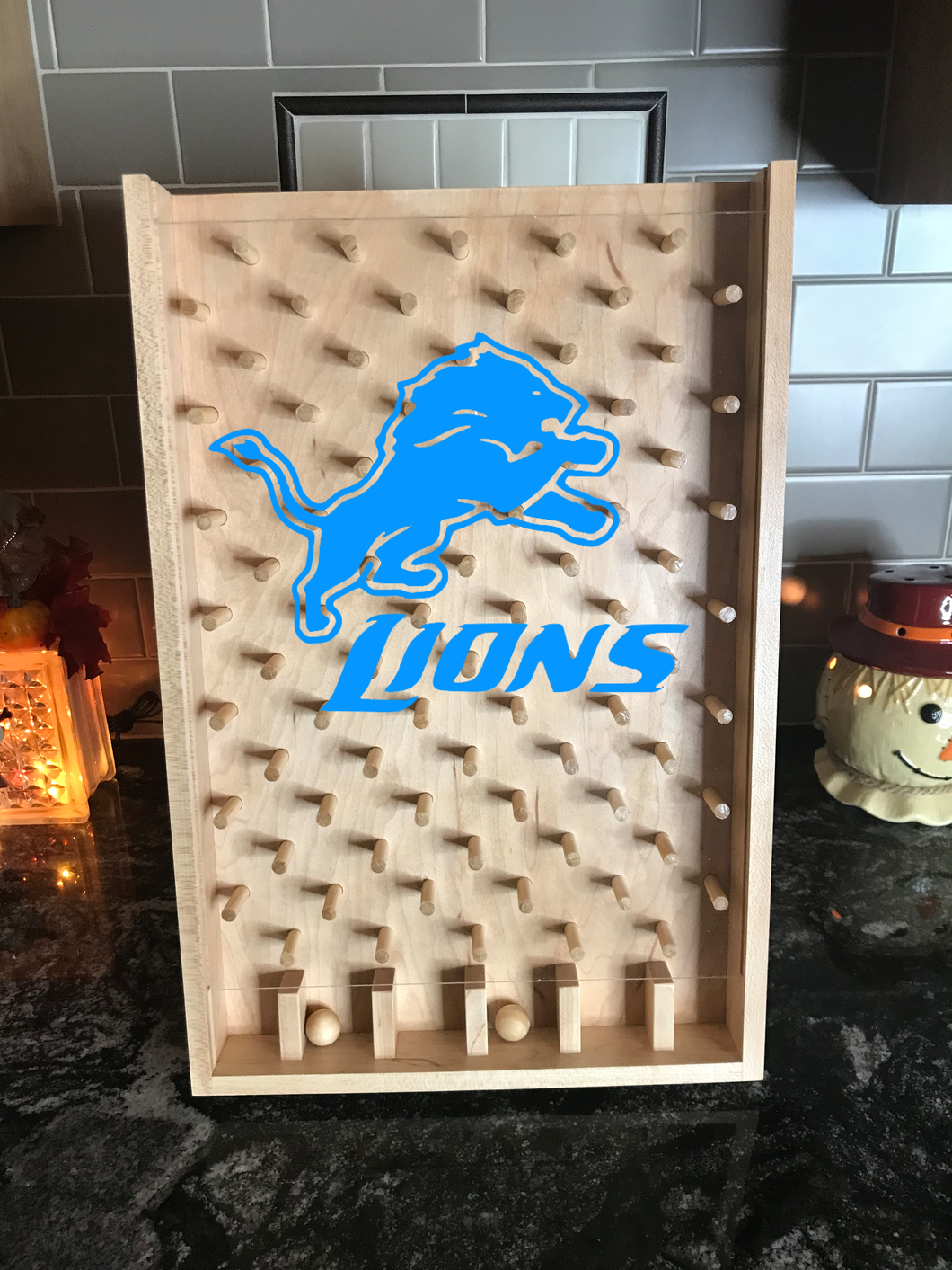 Detroit Lions NFL Plinko Board / Drinko Game