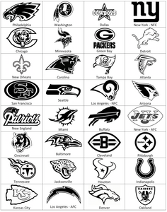 National Football League NFL logos for custom Plinko board