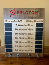 Load image into Gallery viewer, The original Peloton logo personal record leader chalk board