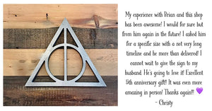Harry Potter inspired rustic wall art - 5 designs