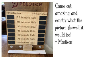 Madison reviewed her Peloton PR tracking leaderboard