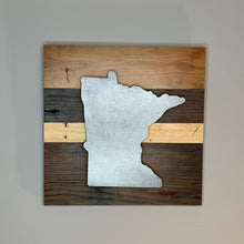 Load image into Gallery viewer, Minnesota Rustic Wall Art | Reclaimed wood art inspired by the state of Minnesota | 7 designs
