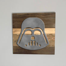 Load image into Gallery viewer, Star Wars Darth Vader rustic wood sign