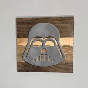 Star Wars Darth Vader rustic wood sign