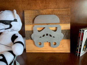 Star Wars stormtrooper rustic wall art