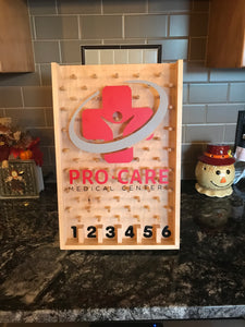 Custom healthcare logo wooden plinko game for trade shows and promotion