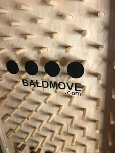 Customized bald move logo plinko game for trade shows and cons
