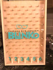 Customized eyecare logo plinko game for trade shows and promotion