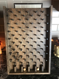 Dark stain wooden plinko game for trade shows and promotion