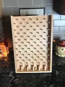 Wooden Plinko / Drinko Game Board - Natural Stain