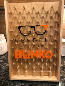 Custom eyecare logo wooden plinko game for trade shows and promotion