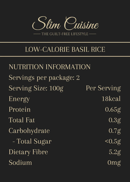Low-Calorie Basil Rice - Pack - Rice - Slim Cuisine