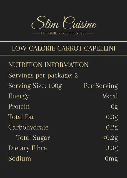 Low-Calorie Carrot Capellini - Pack - Pasta - Slim Cuisine