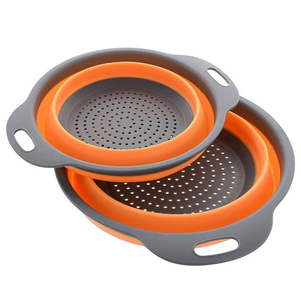 Collapsible Strainer (multiple colours available) - Strainer - Slim Cuisine