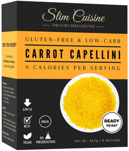 Konjac Shirataki Carrot Capellini (NEW) - Pasta - Slim Cuisine
