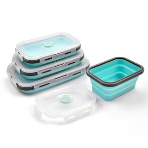 Collapsible Food Storage Boxes (multiple colours available) - Lunch Box - Slim Cuisine