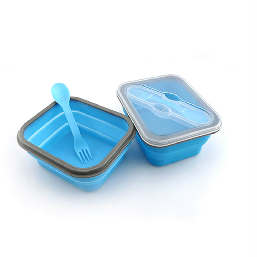 Collapsible Lunch Box with Spork (multiple colours available) - Lunch Box - Slim Cuisine