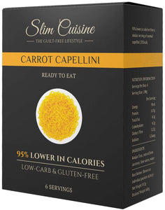 Low-Calorie Carrot Capellini - Pasta - Slim Cuisine