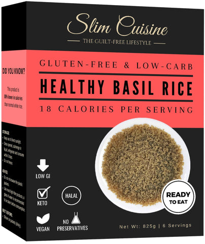 Low-Calorie Basil Rice (NEW) - Rice - Slim Cuisine