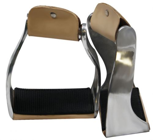 Aluminum Angled / Twisted Barrel Stirrups