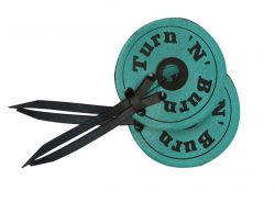 Teal Turn & Burn Design Leather Bit Guard