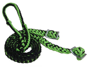 Braided Nylon Contest Reins w/ Grip Knots