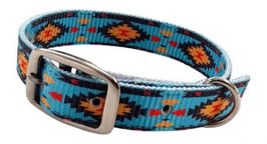Teal Southwest Design Dog Collar