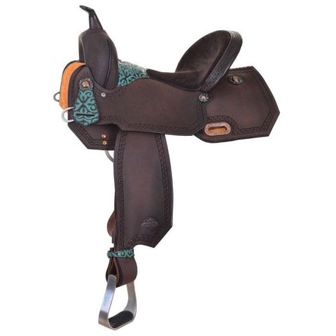 Circle Y Maddison Chocolate Barrel High Horse Saddle
