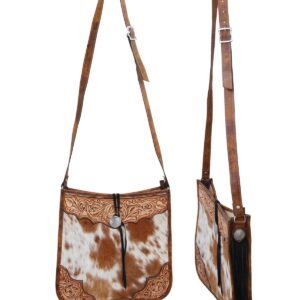 Rafter T Cowhide Tote w/ Leather Top & Corners